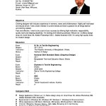 Sample Of An Academic Resume