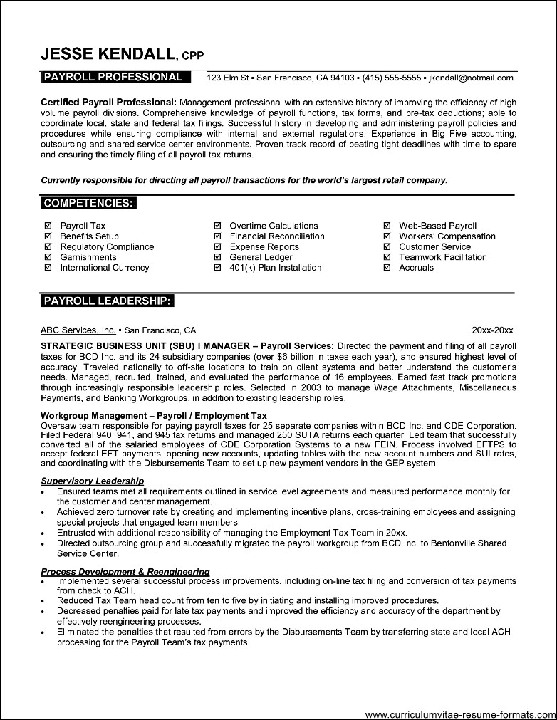 sample professional resume template  free samples