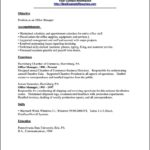 Sample Resume For Office Manager Position