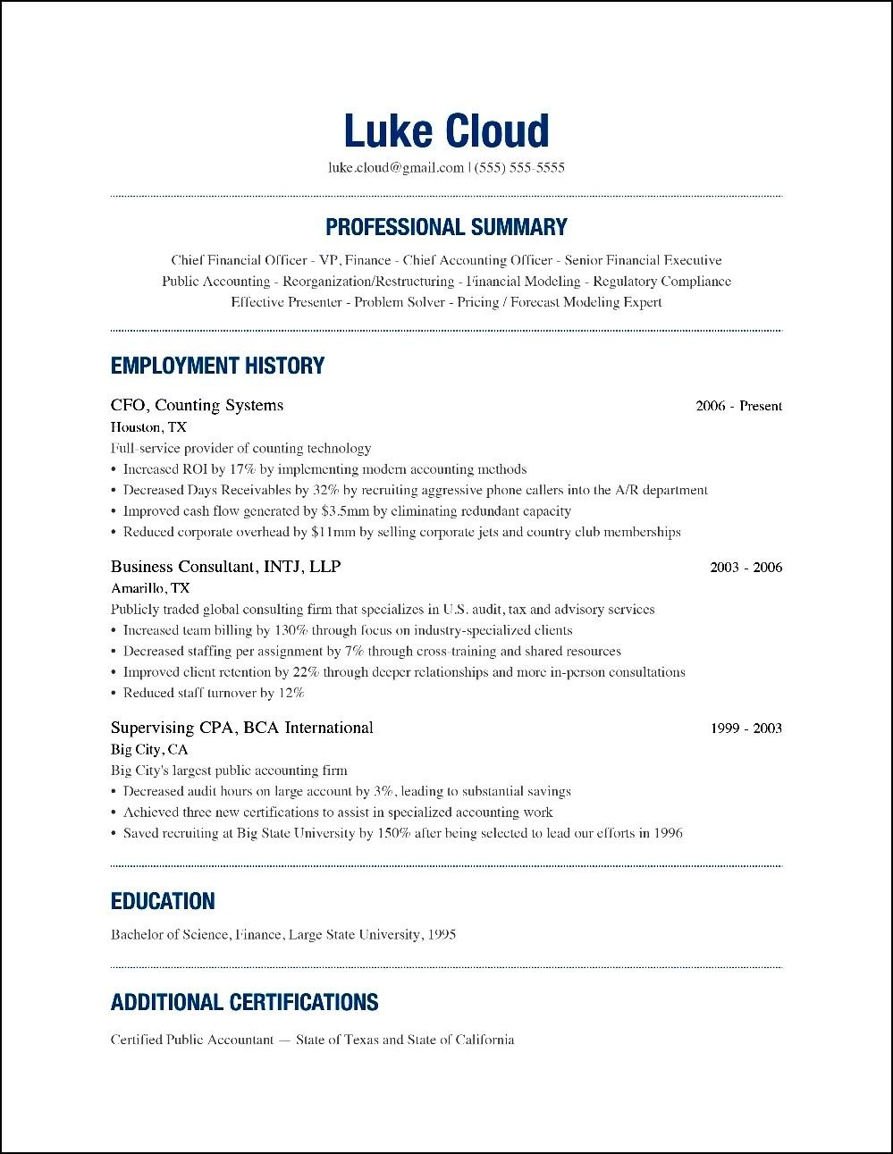 write modern resume