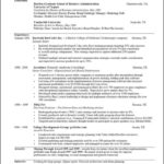 A Template For A Resume