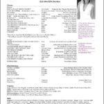 Actors Resume Template Download