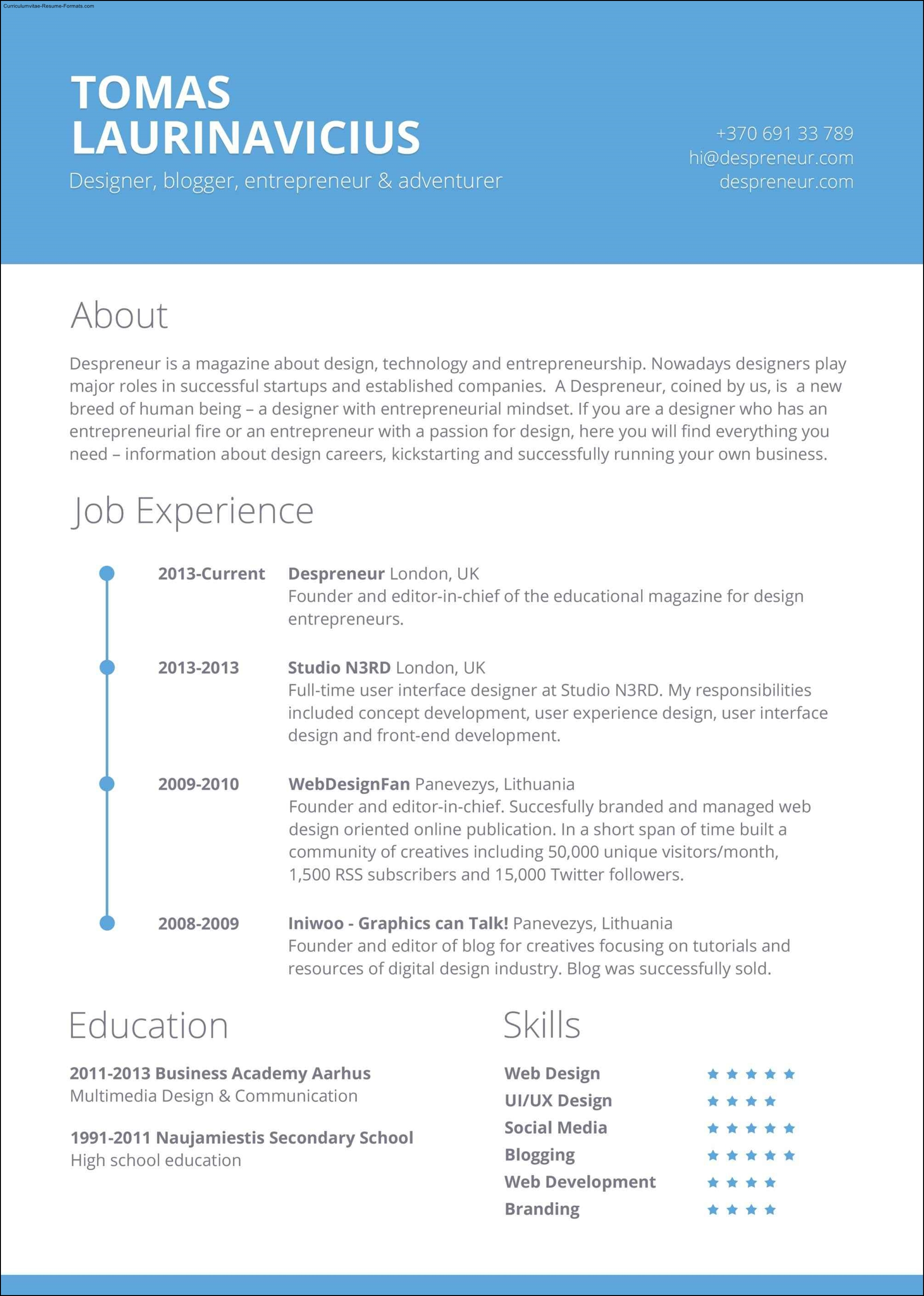 adobe indesign resume template