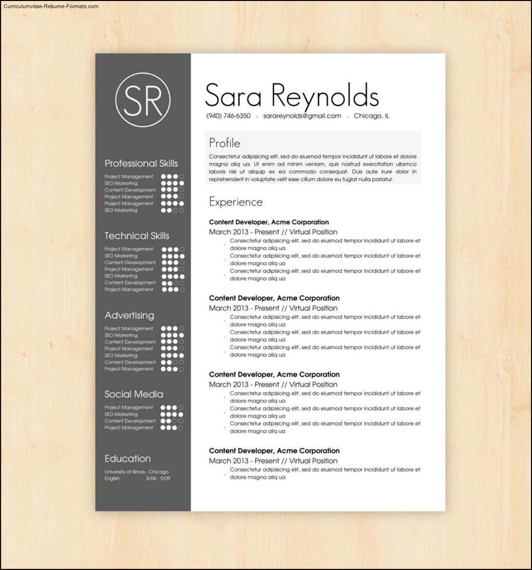 artistic resume templates