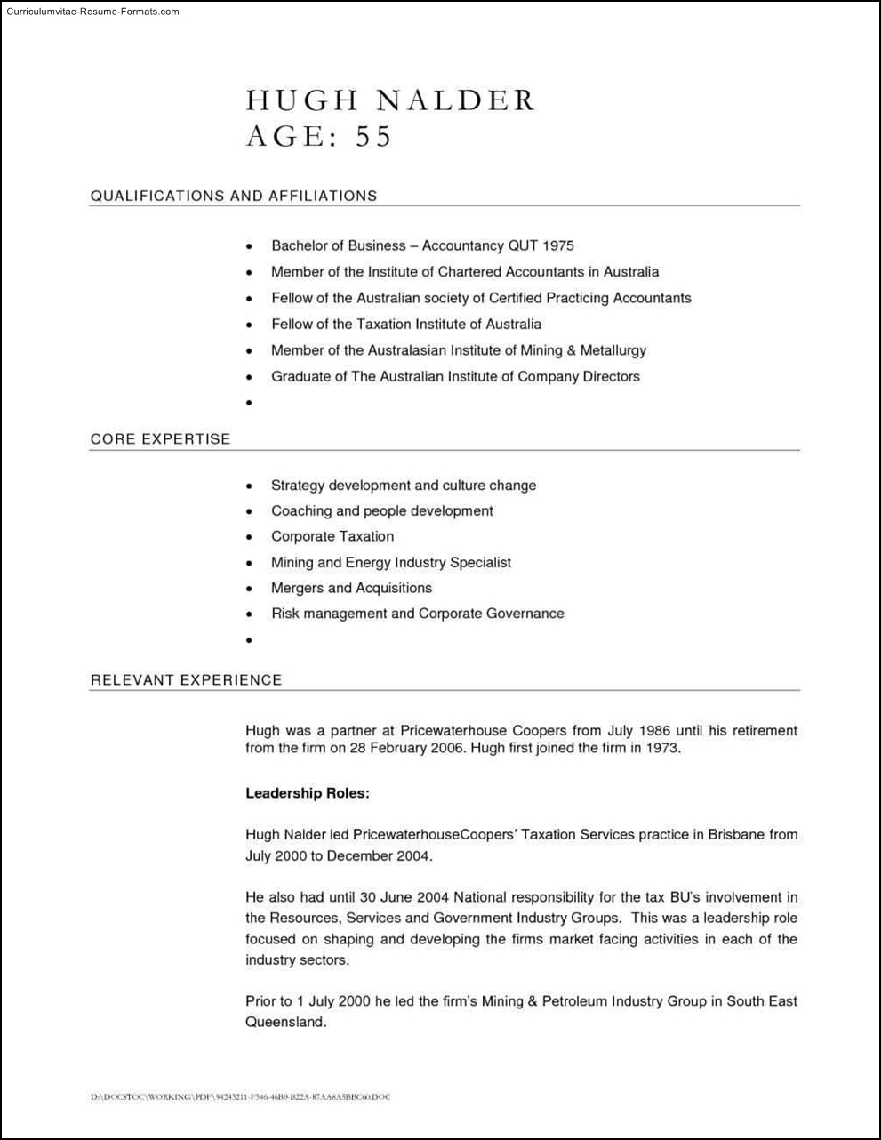 Australian Resume Template Free Free Samples Examples