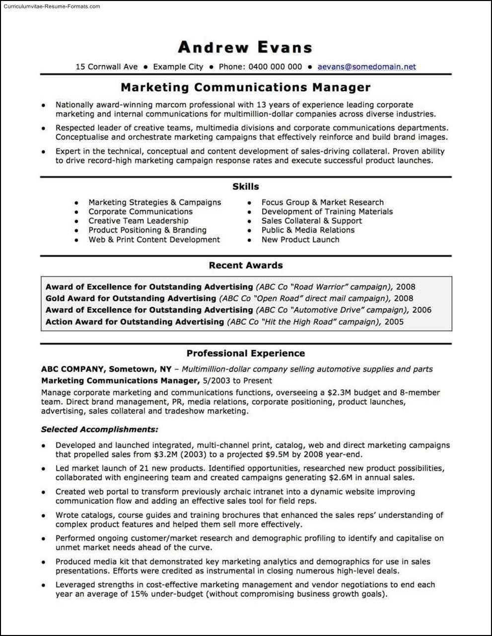 australian resume template