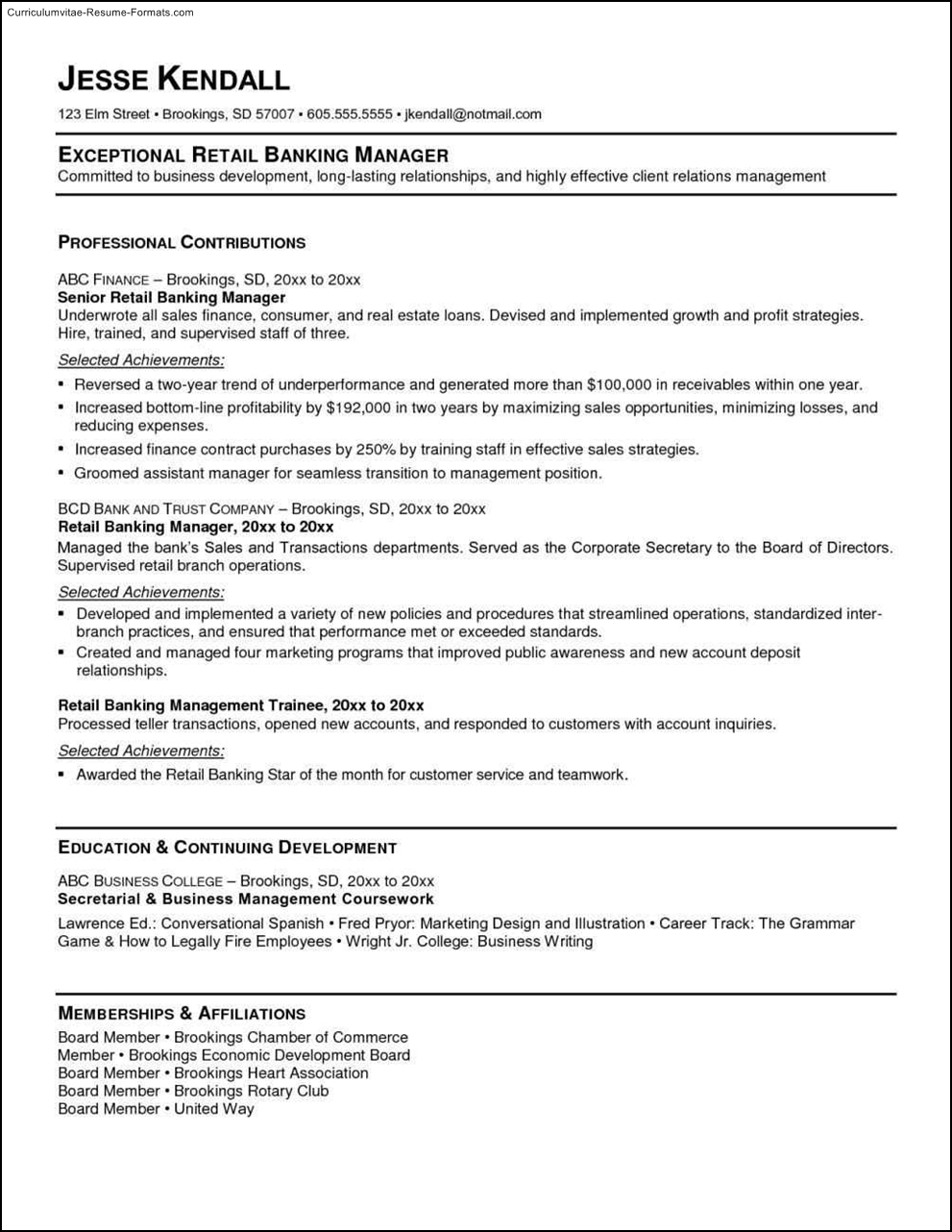 bank resume template free sles exles format