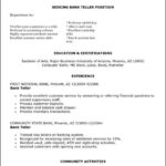 Bank Teller Resume Templates