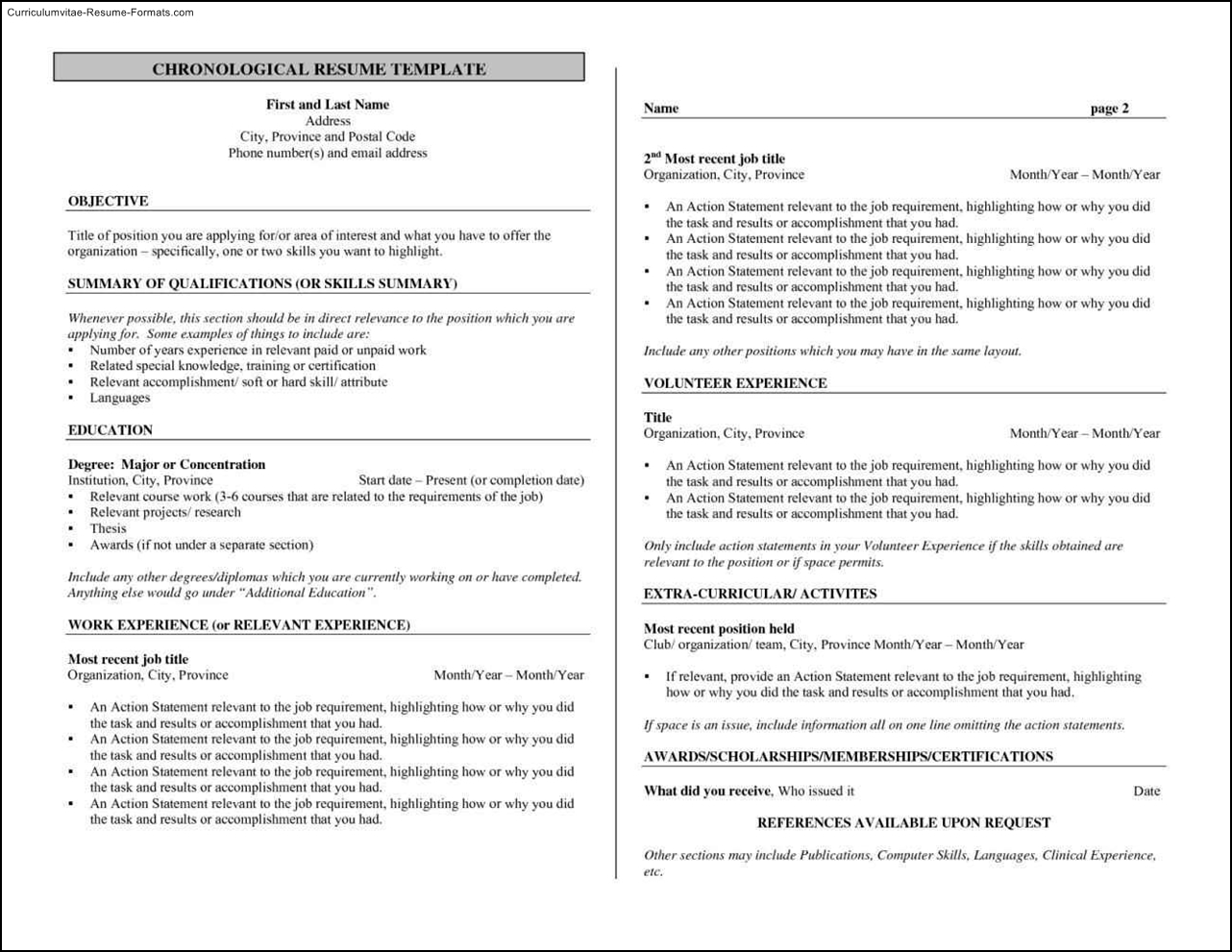 bartending resume templates
