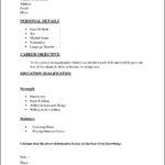 Basic Job Resume Template