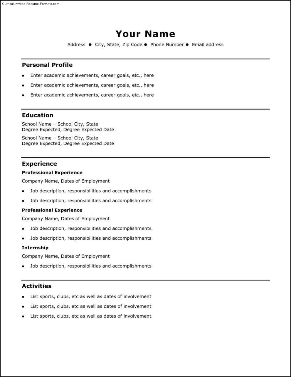 basic resume template download  free samples  examples