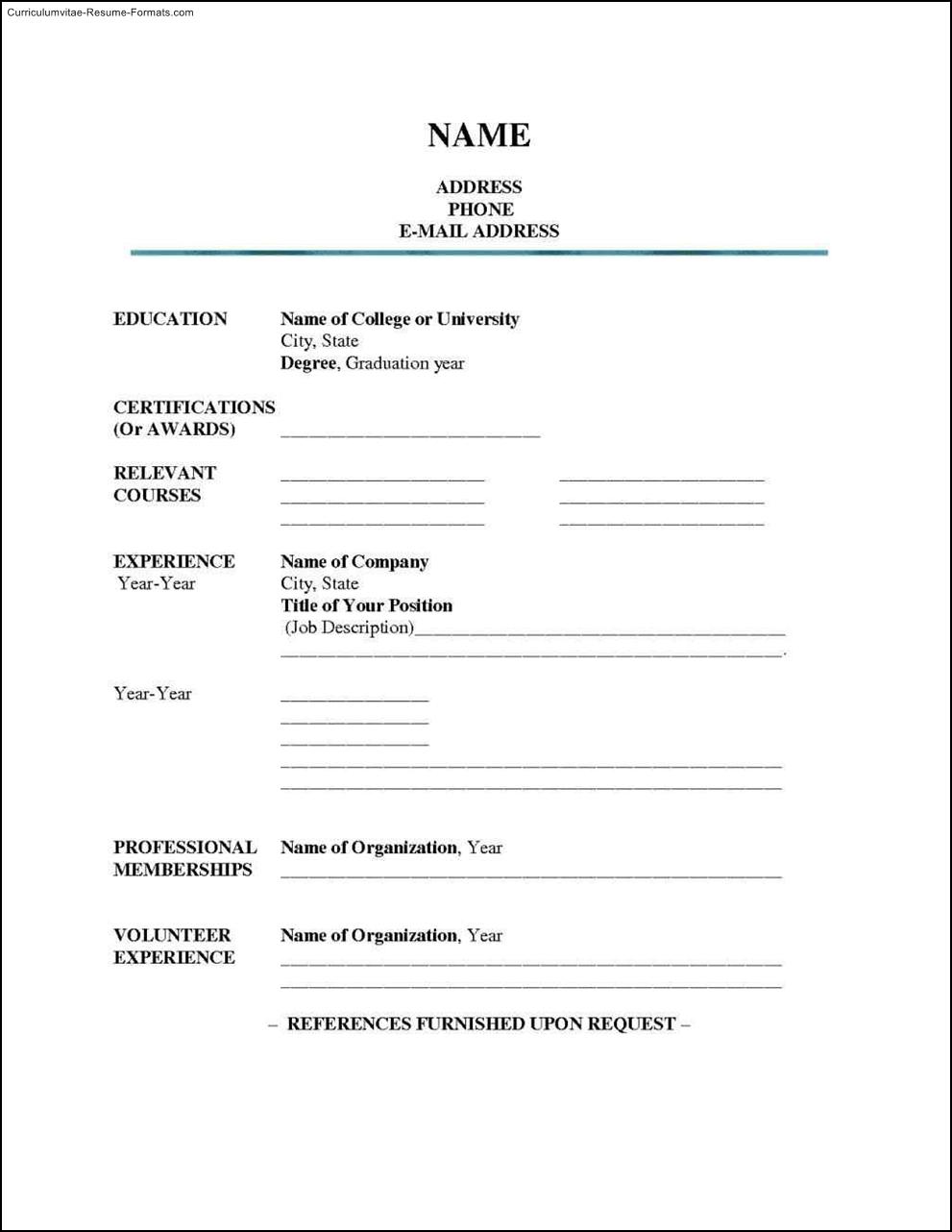 blank resume template word  free samples  examples