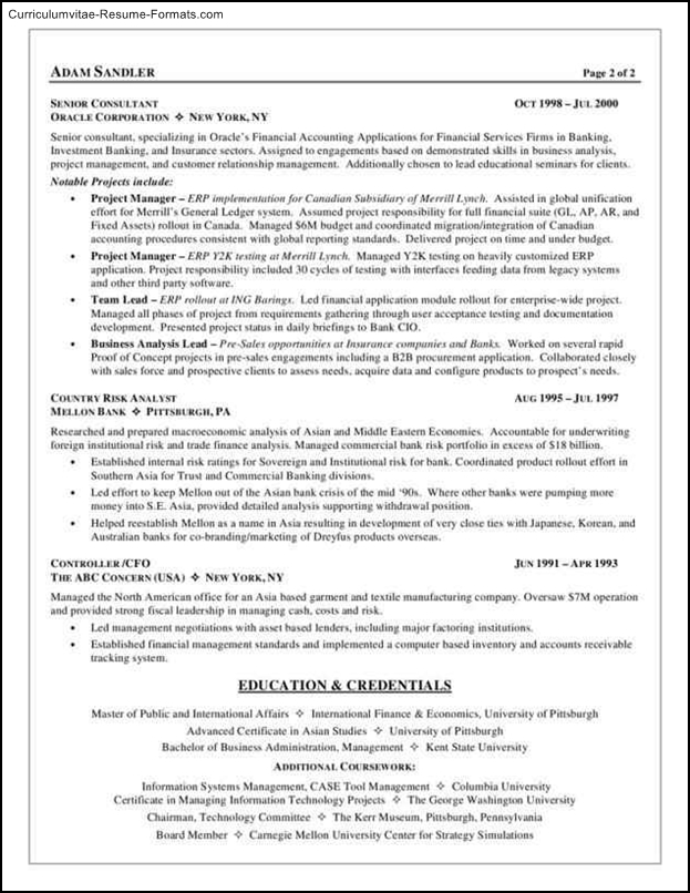 business analyst resume templates  free samples