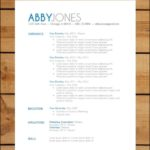 Contemporary Resume Template Free