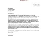 Cover Letter For A Resume Template
