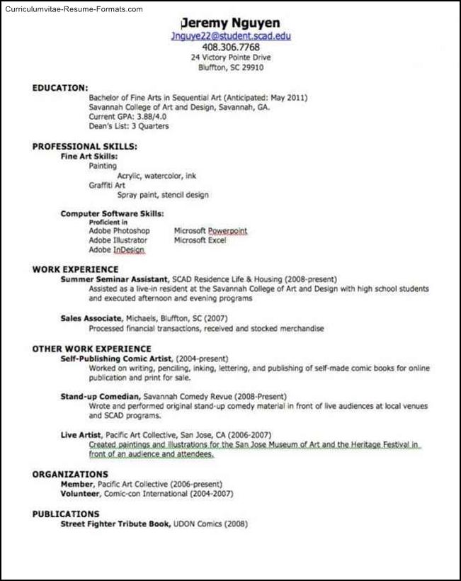 create a resume template