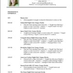 Dance Resume Templates
