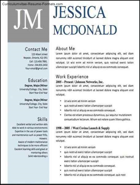 designed resume templates