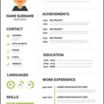 Editable Resume Template Free