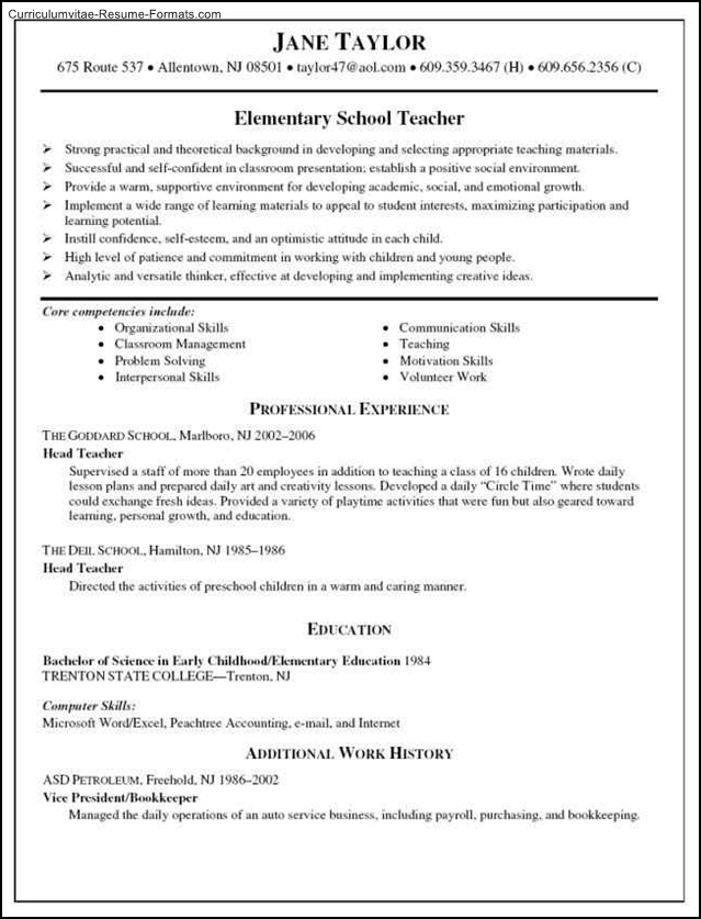 Education resume template free