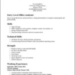 Entry Level Resume Template Word