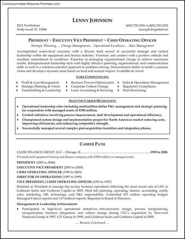executive resume templates free free samples examples