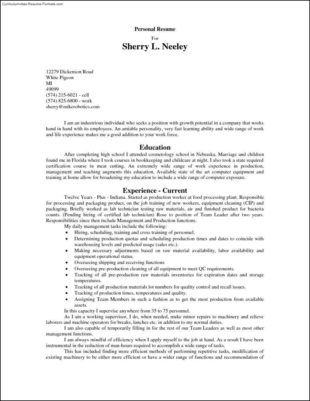fast food resume template free sles exles