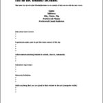 Fill In Resume Template