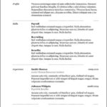 free combination resume template free combination resume template
