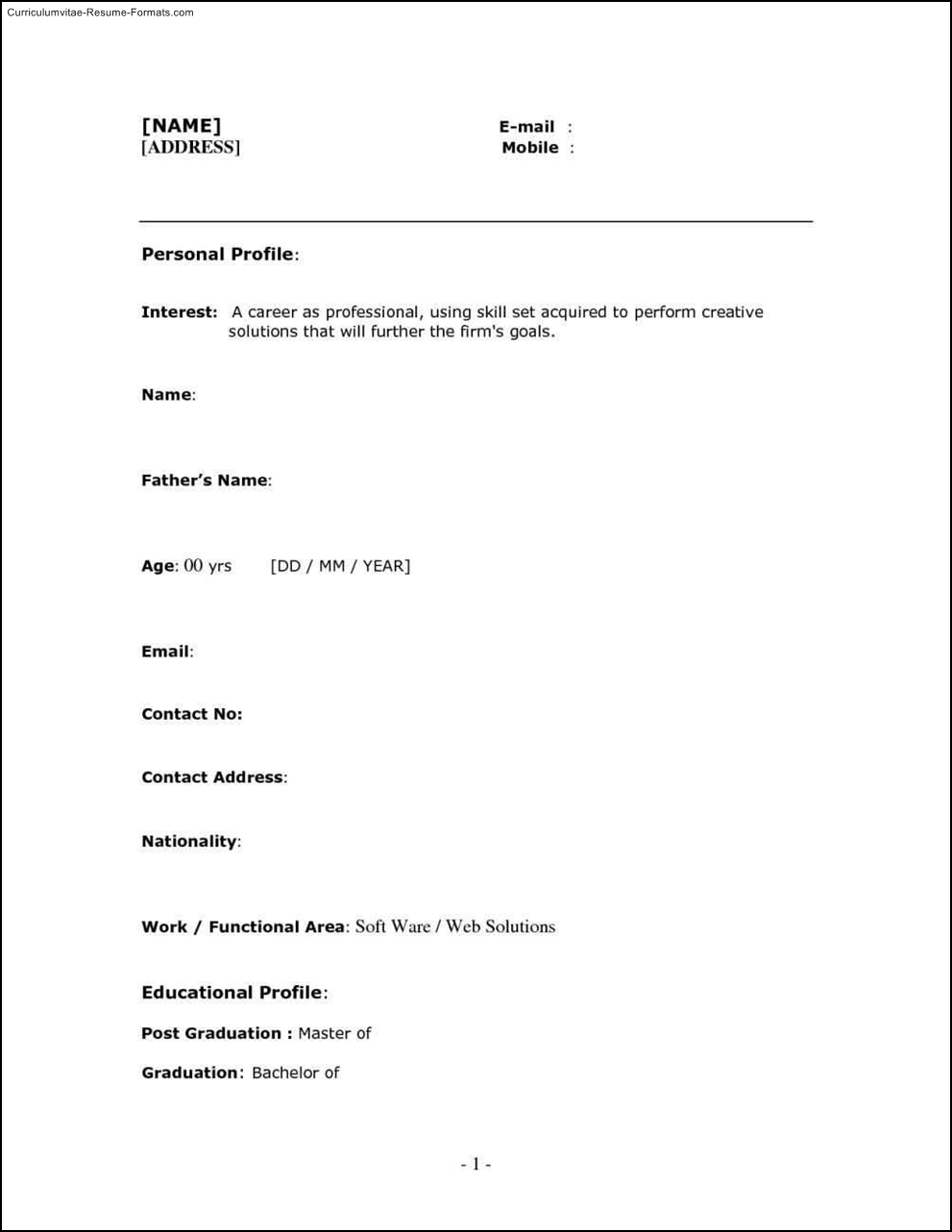 one page format of resume examples of resumes sample resume format for fresh graduates one mesmerizing resume format samples examples of