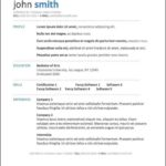 Free Resume Template Downloads For Mac