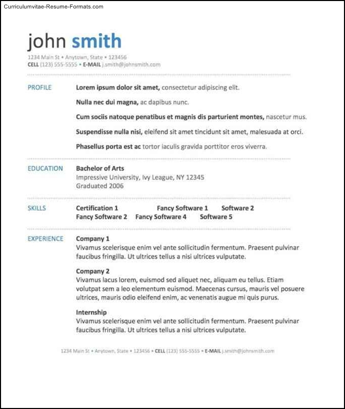 free resume template for microsoft word free sles