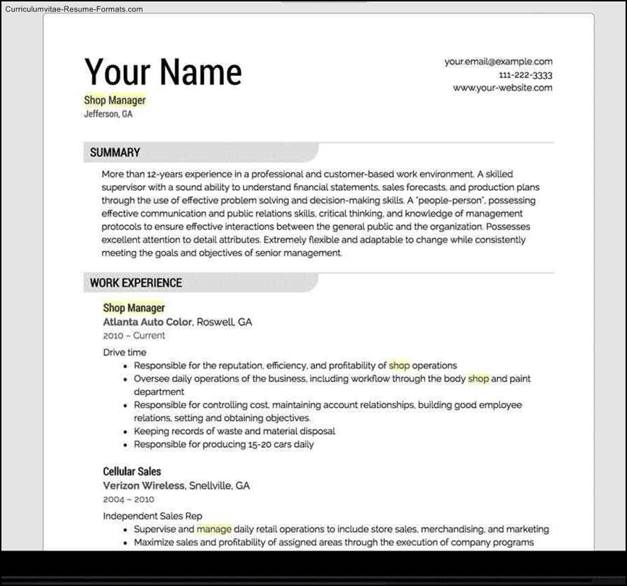 resume with photo template free resume template free samples examples 24482