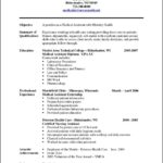 Free Resume Templates For Medical Assistant