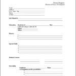 Free Templates For Resumes To Print