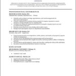 Free Traditional Resume Templates