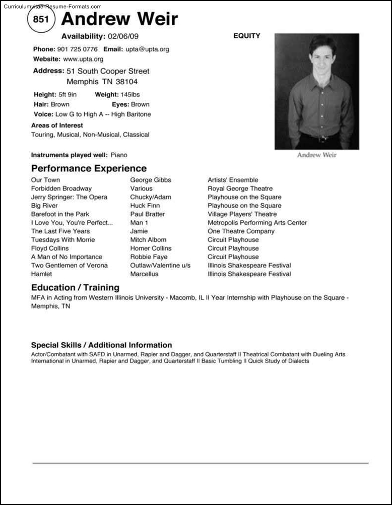 Free Windows Resume Templates Free Samples Examples