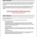 Functional Resume Format Template