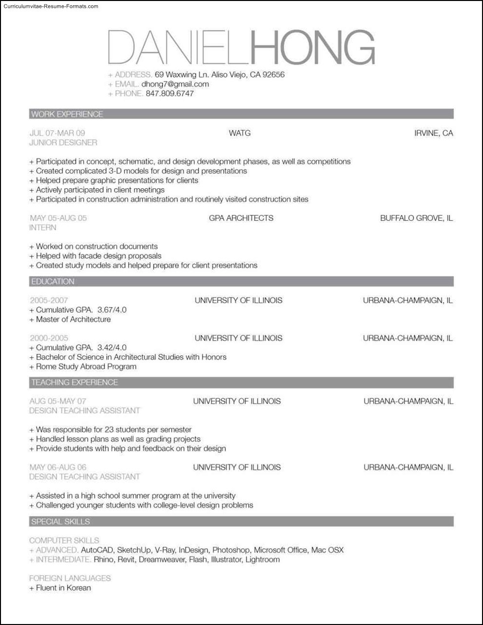 great looking resume templates free samples examples