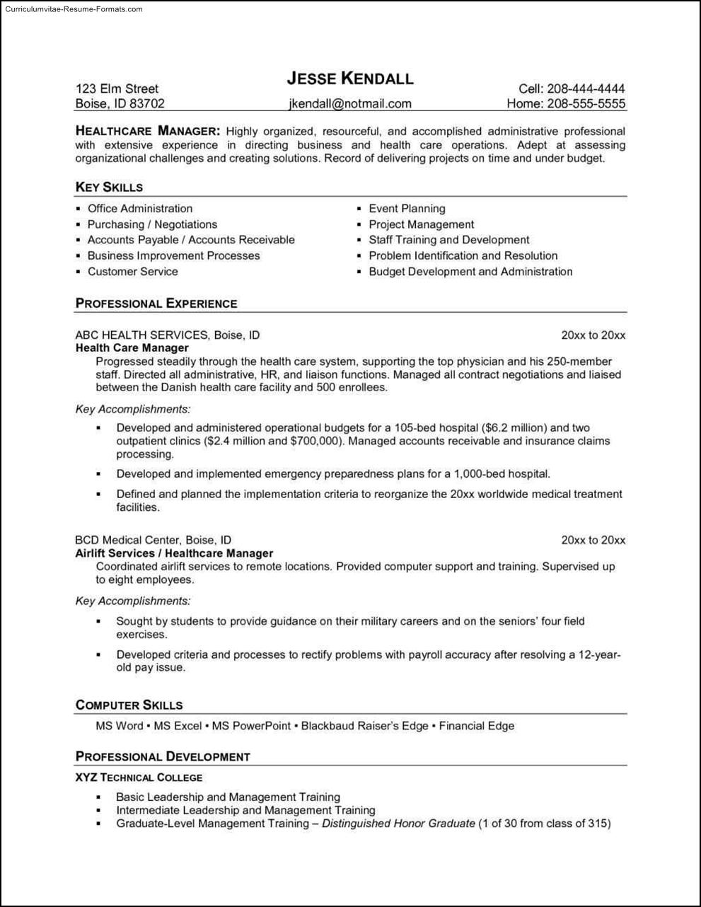 health resume template free samples examples format resume curruculum vitae free