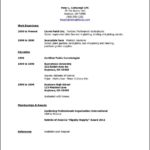 High School Student Resume Template For College