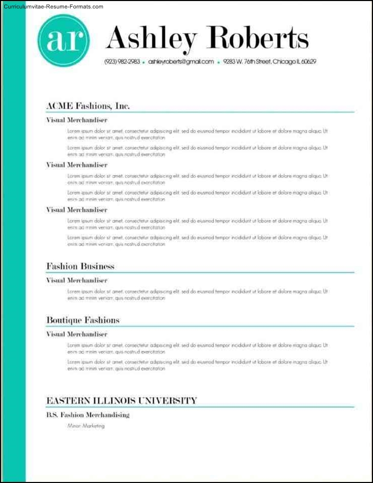 Resume templates examples free