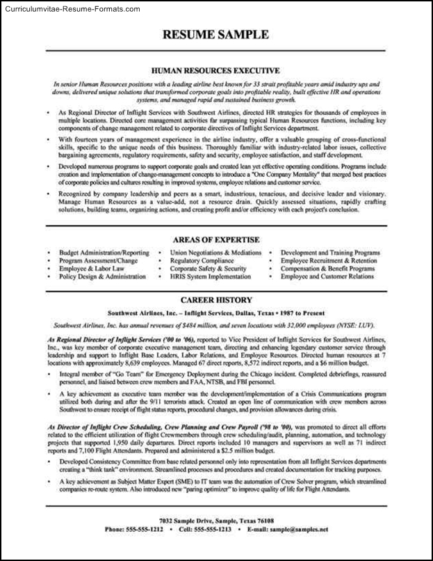 human resources resume template free sles exles