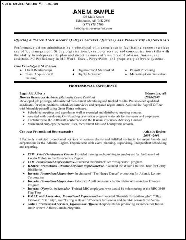 human resources resume templates free sles exles