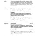 Hybrid Resume Template Free