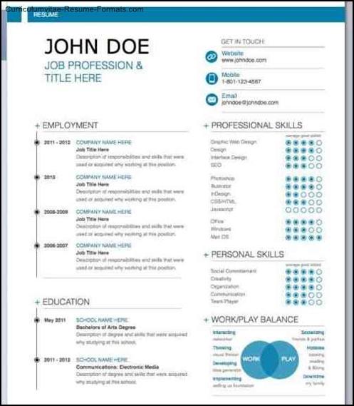 iwork resume templates