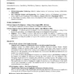 Latex Resume Template Academic
