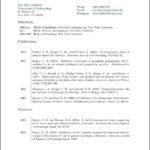 Latex Resume Template Phd