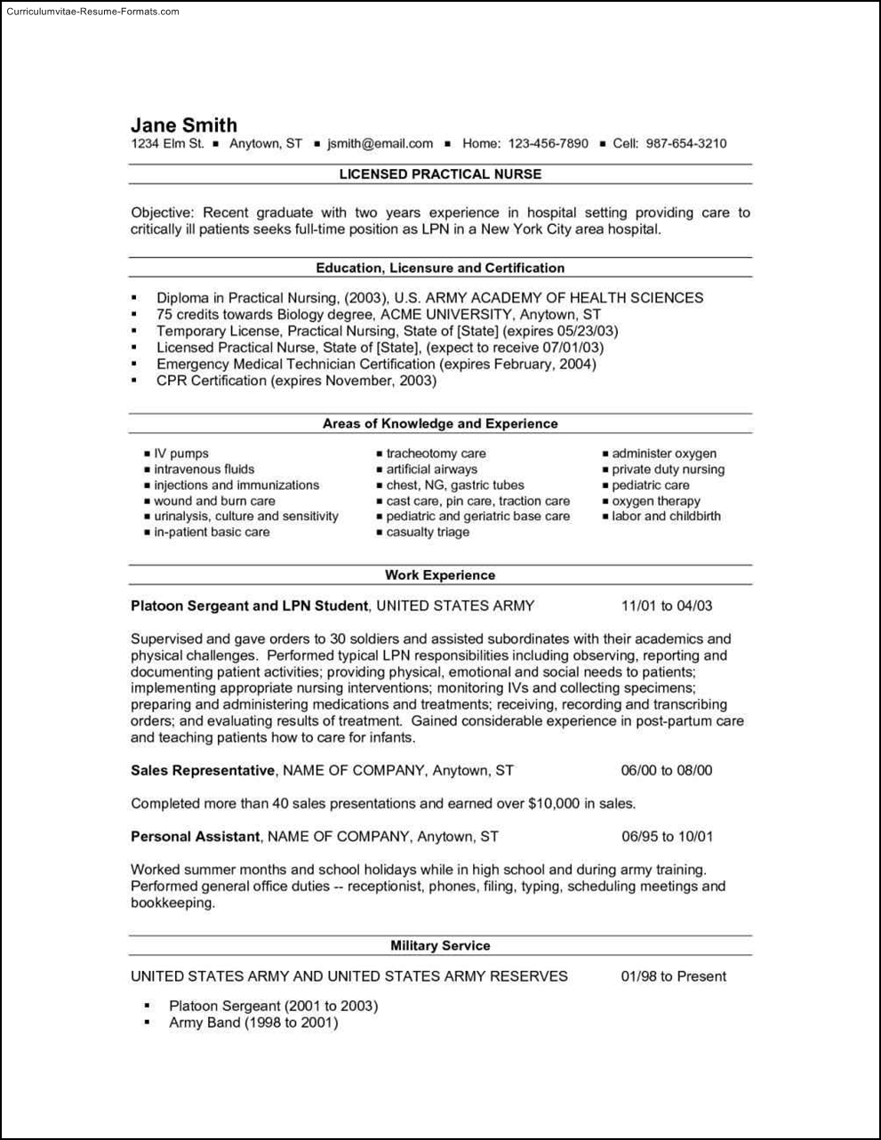 lpn resumes templates  free samples  examples  format