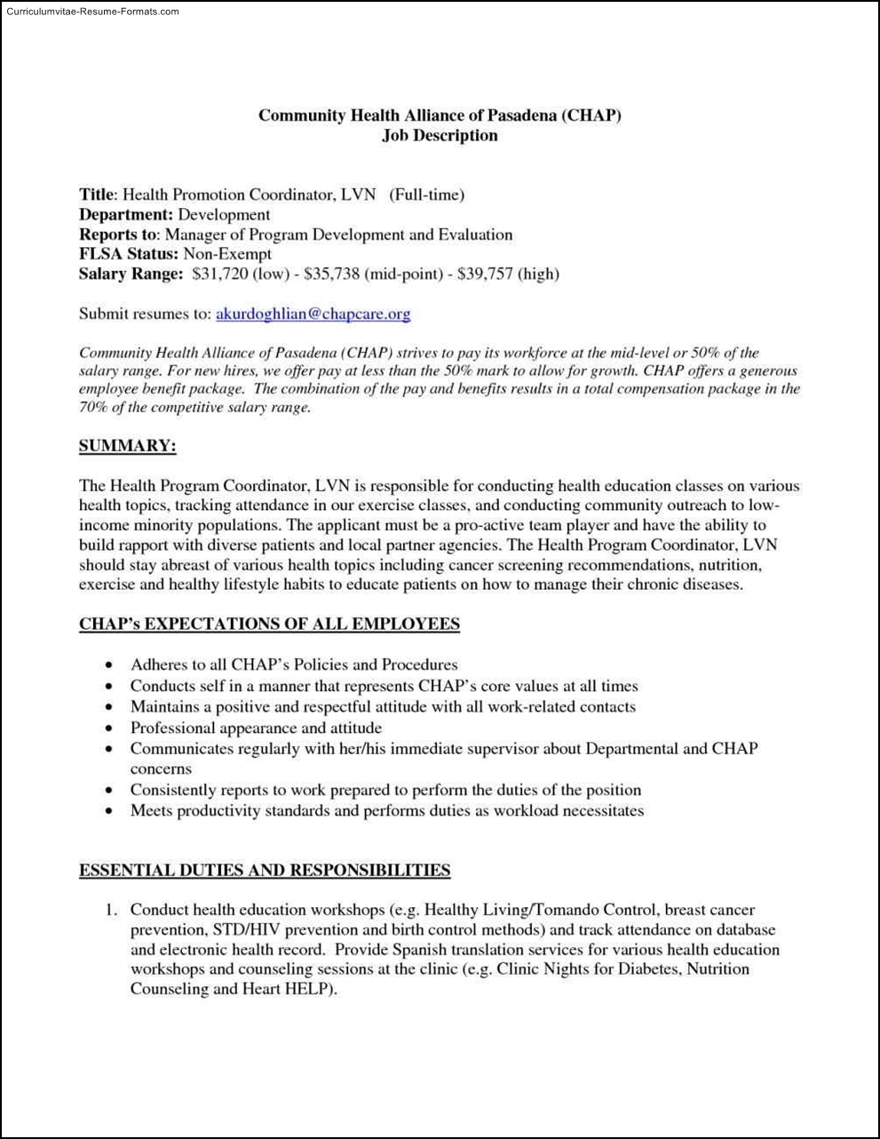 lvn resume template